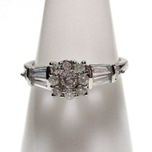 Ring Size 8 Simulated Diamond Promise 438